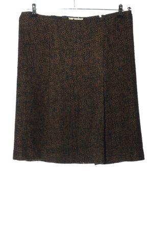 Prada Jupe en laine noir-brun tissu mixte