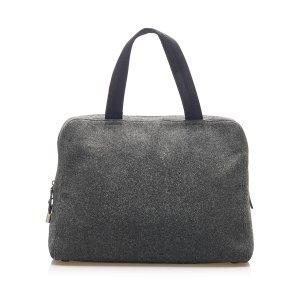 Prada Business Bag dark grey wool