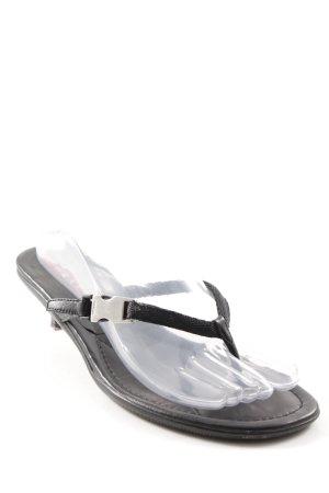 Prada Sandalias de tacón con talón descubierto negro elegante