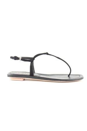 Prada Sandalo toe-post nero stile casual