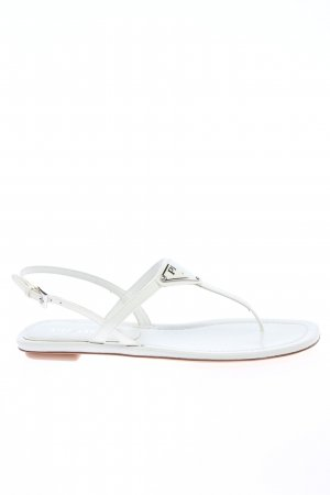 "Prada Toe-Post sandals ""Thong Sandal"" white"