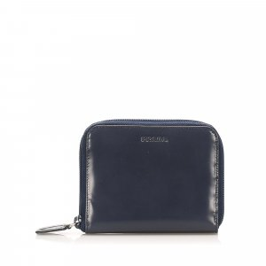 Prada Zip Around Leather Small Wallet