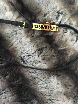 Prada Cinturón negro-color oro