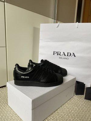 Prada High Top Sneaker black-white