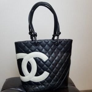 Chanel Handtas zwart-wit