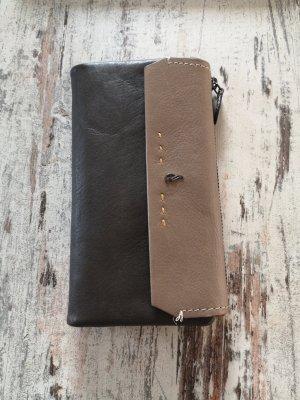 Abbacino Wallet grey brown-ocher