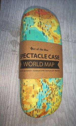 praktisches Brillen Etui Weltkarte NEU