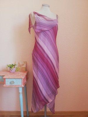 Precis Petite Sommerkleid Kleid lang Seidenkleid Seide rosa pink Gr. UK 12 EUR 38 S M