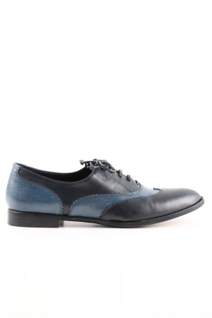 Prego Zapatos Oxford con puntera azul-negro estilo «business»