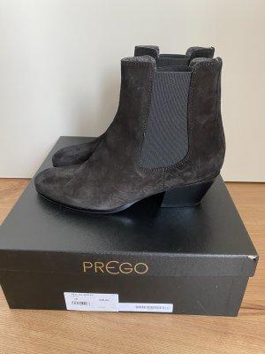 Prego Cowboy Boots Schwarz Veloursleder