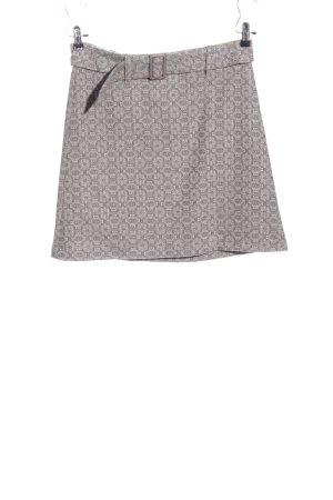 Prego Miniskirt natural white-light grey allover print casual look