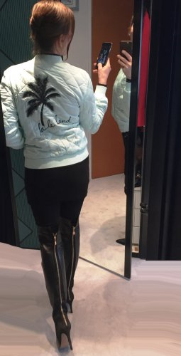 Preissenkung! Juicy Couture Blouson, Jacke, türkisgrün, Gr. XS,  Surf Spray Woven Satin Puffer Jacket