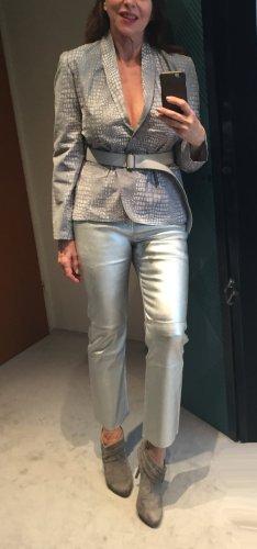 Preissenkung ! Neue graue Jacke mit Krokomuster, NMBRNINE. M passend für Gr. 38/40