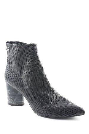 Premiata Reißverschluss-Stiefeletten schwarz-hellgrau abstraktes Muster Elegant