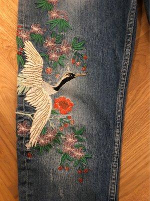 PREMIUM DENIM - Embroided Denim - Jeans mit Stickerei - BOYFRIEND -