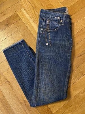 Replay Jeans stretch bleu foncé-bleu coton