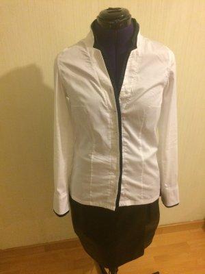 Premium schwarz-weiß Bluse