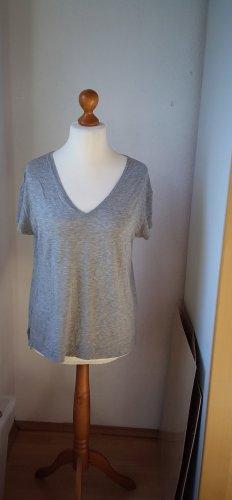 Premium T-Shirt V-Ausschnitt Größe 40 grau meliert
