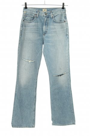Premium Vintage Boot Cut Jeans blau Casual-Look