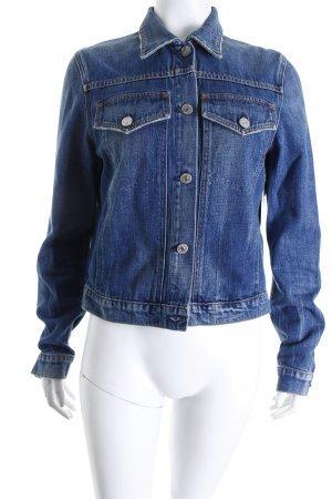 Premium Vintage Jeansjacke blau-stahlblau Casual-Look