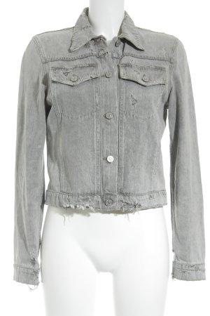 Premium Vintage Jeansjacke grau