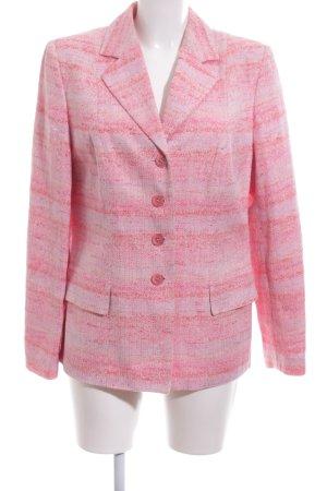 Prestige Elegance Smoking-Blazer lila-pink Allover-Druck Elegant
