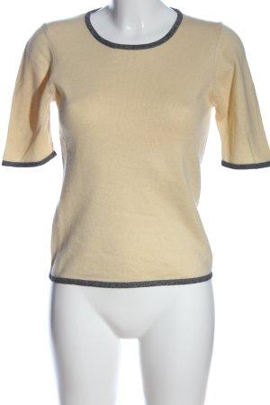 Prestige Elegance Strickshirt blassgelb-schwarz Casual-Look