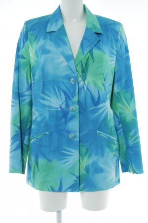 Prestige Kurz-Blazer blau-türkis Blumenmuster Elegant