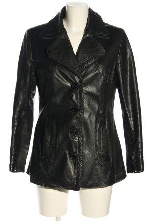 Prestige Giacca in pelle nero stile casual