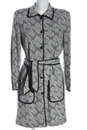 Prestige Cappotto a maglia grigio chiaro-nero stampa integrale elegante