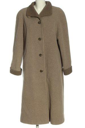 Prestige Cappotto mezza stagione bianco sporco-marrone stile semplice