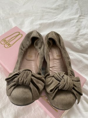 Pretty ballerinas Ballerinas with Toecap taupe-grey brown leather