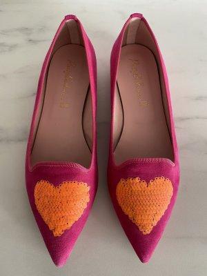 Pretty ballerinas Ballerine en pointe rose-orange