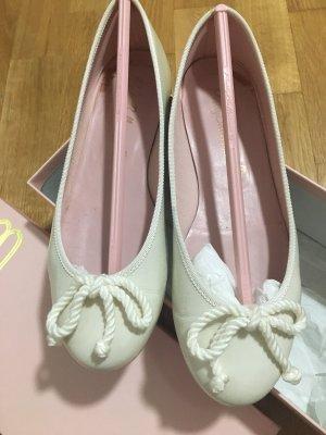 Pretty ballerinas Ballerina di pelle verniciata bianco Pelle