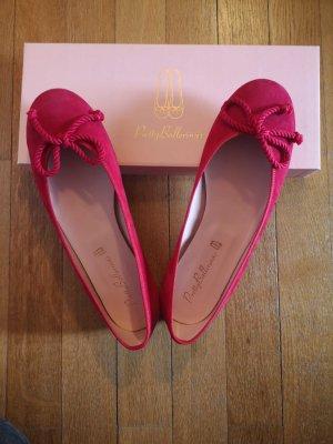 Pretty ballerinas Ballerina's met kant rood-neonrood