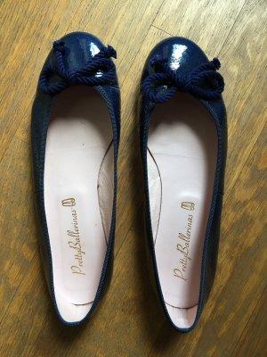 Pretty ballerinas Ballerina di pelle verniciata blu scuro-blu