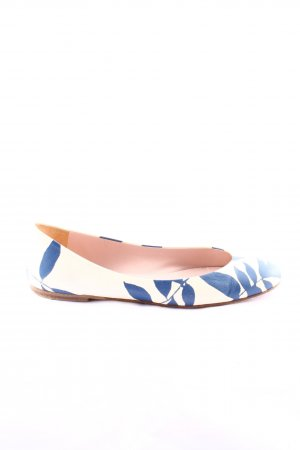 Pretty ballerinas faltbare Ballerinas weiß-blau Blumenmuster Casual-Look