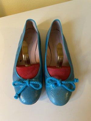 Pretty ballerinas Slingback ballerina's turkoois