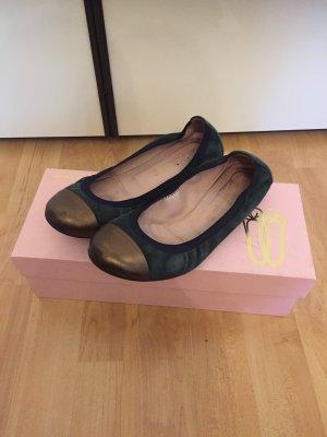 Pretty Ballerinas grün/bronze