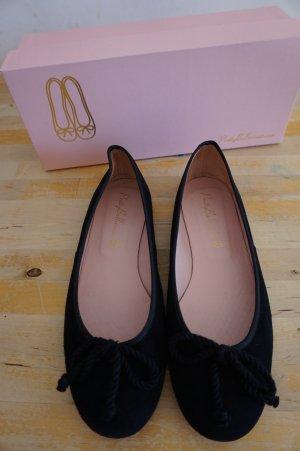 Pretty Ballerinas klassische schwarze Ballerinas Gr. 38,5 Veloursleder