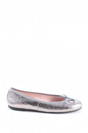 Pretty ballerinas Bailarinas de charol con tacón rosa-color plata elegante