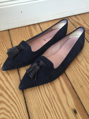 Pretty Ballerinas Marineblaue Slippers *spitz