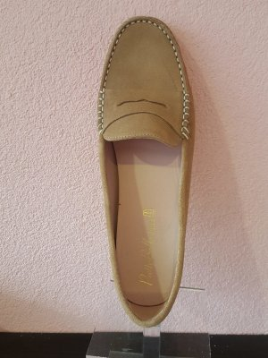 Pretty ballerinas Moccasins nude leather