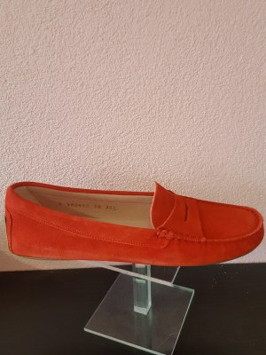 Pretty ballerinas Moccasins red leather