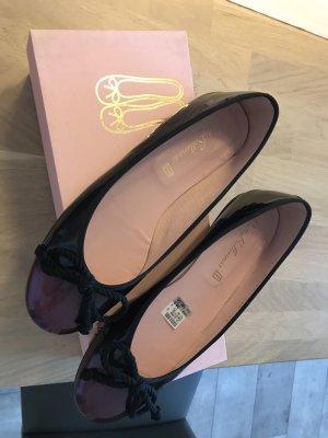 Pretty ballerinas Ballerines en cuir verni noir-violet