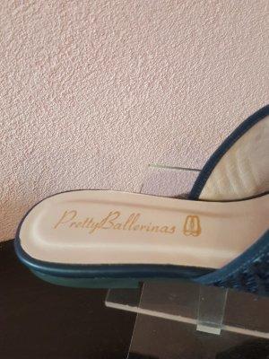 Pretty ballerinas Sandalo con tacco blu scuro Pelle
