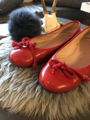 Pretty ballerinas Ballerina di pelle verniciata rosso