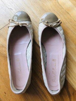 Pretty Ballerinas Schuhe, beige, getragen, Lack und Padded, Größe 38,5,