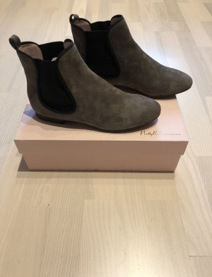 Pretty ballerinas Booties grey brown leather