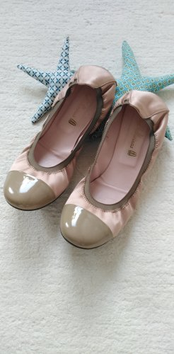 Pretty Ballerinas * Süße Satin Ballerinas * rose-taupe * 41 (40)